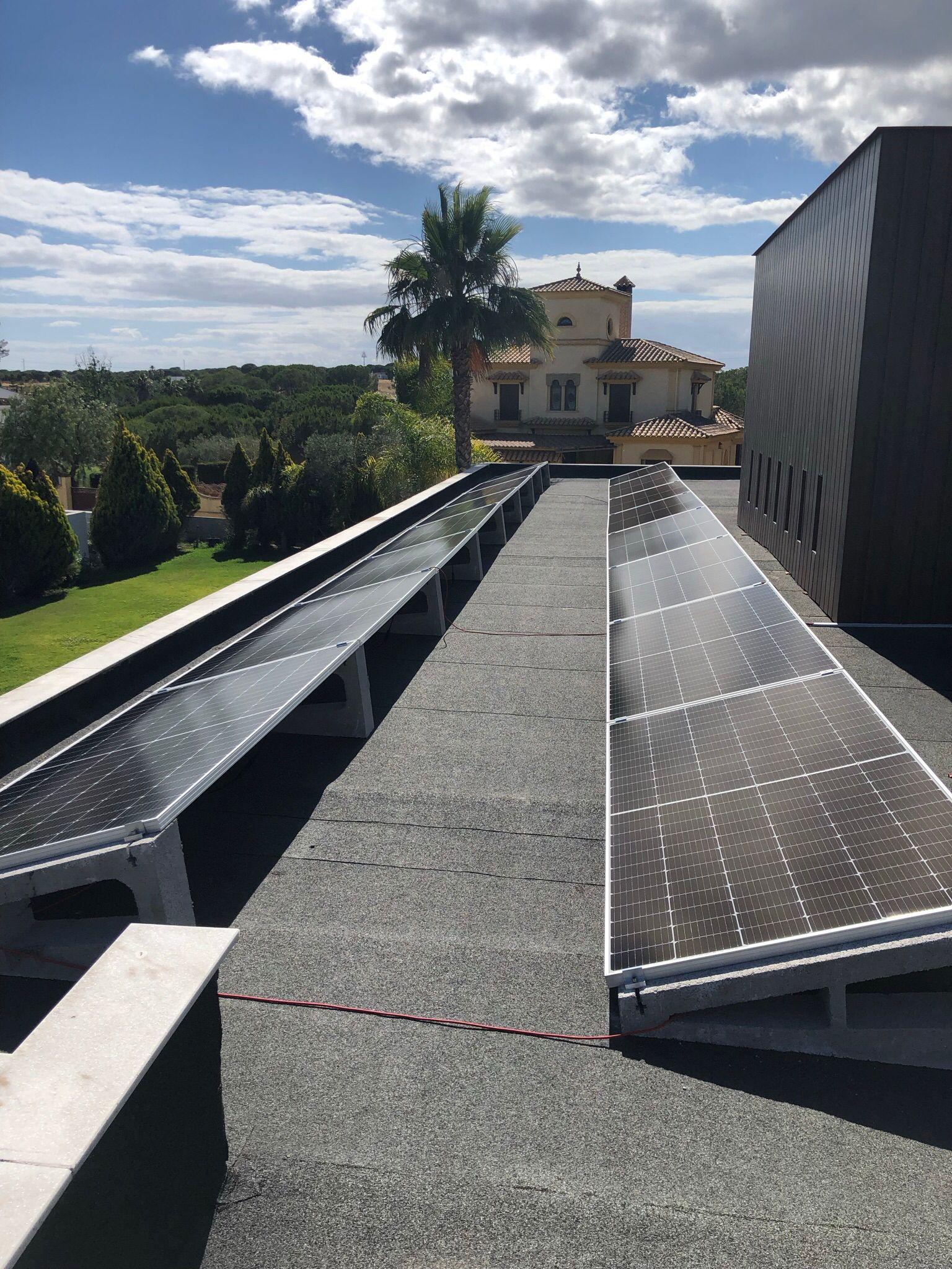 placas solares en chalet